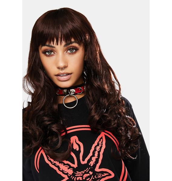 Dark Brunette Misfit Wavy Wig