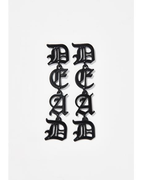 Dead To Me Statement Earrings