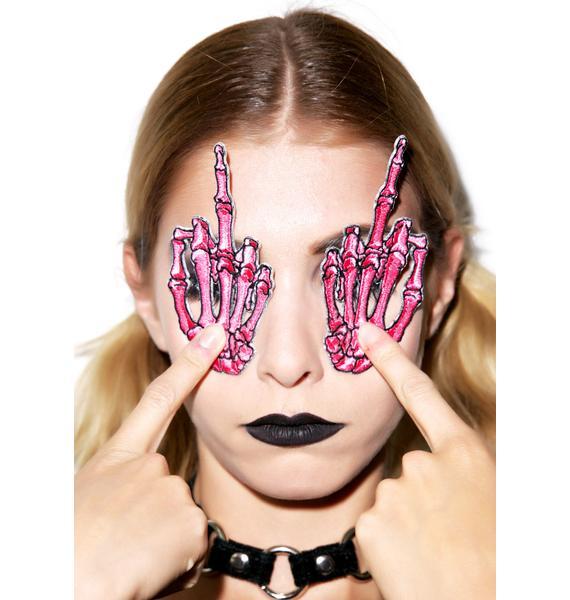 Kreepsville 666 Skelli Hand Finger Patch