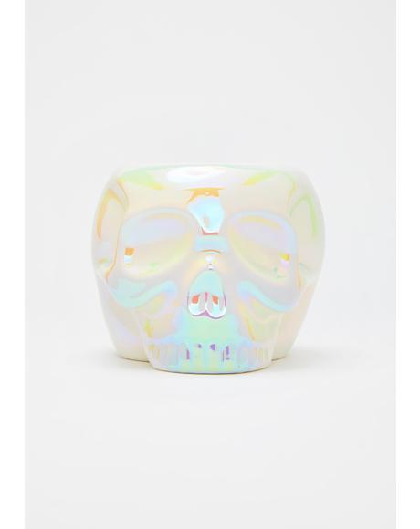 White Aura Skull Mug