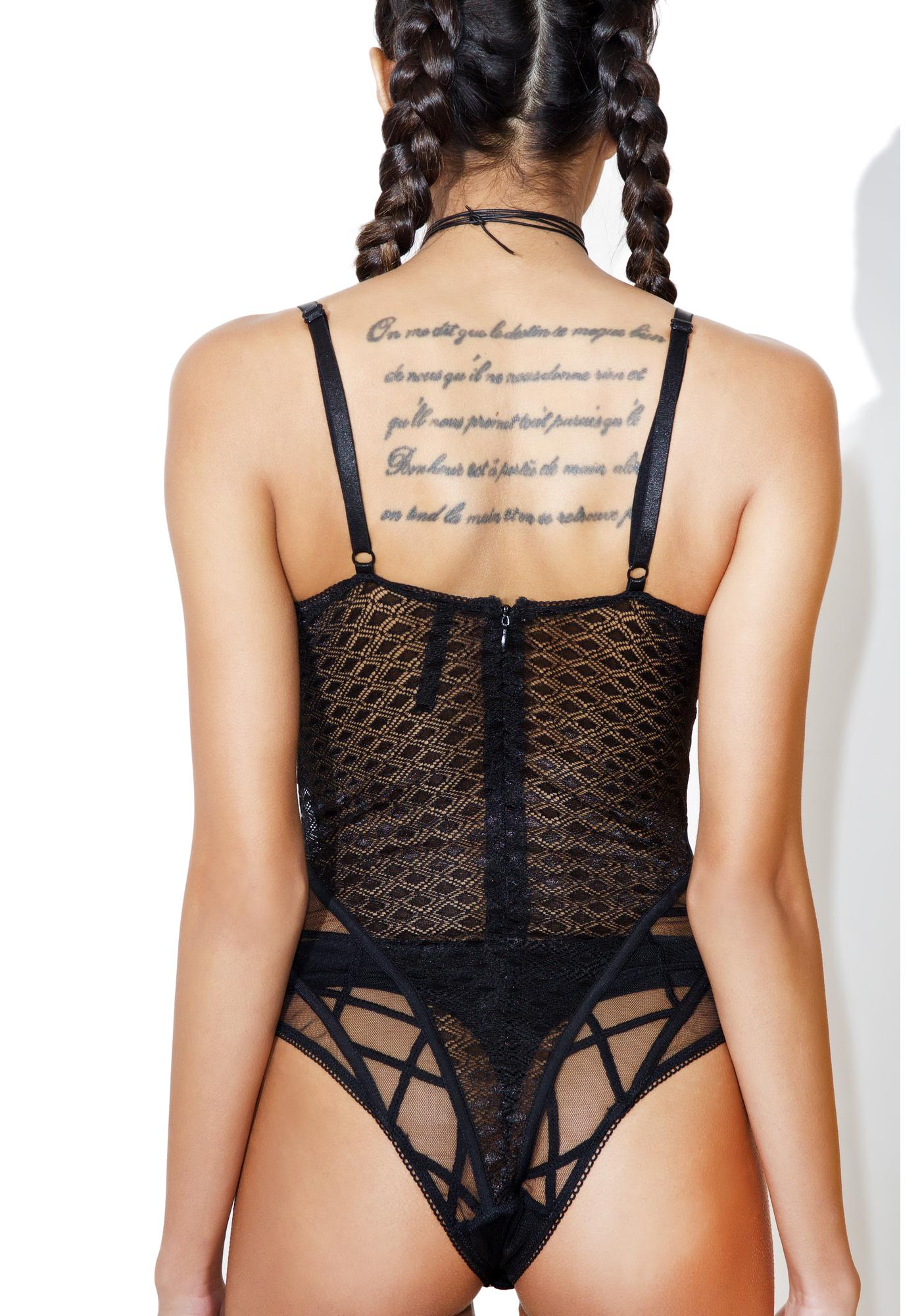 Daddy Lessons Sheer Bodysuit