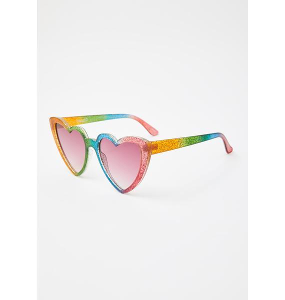 ban.do Rainbow Heart Sunglasses