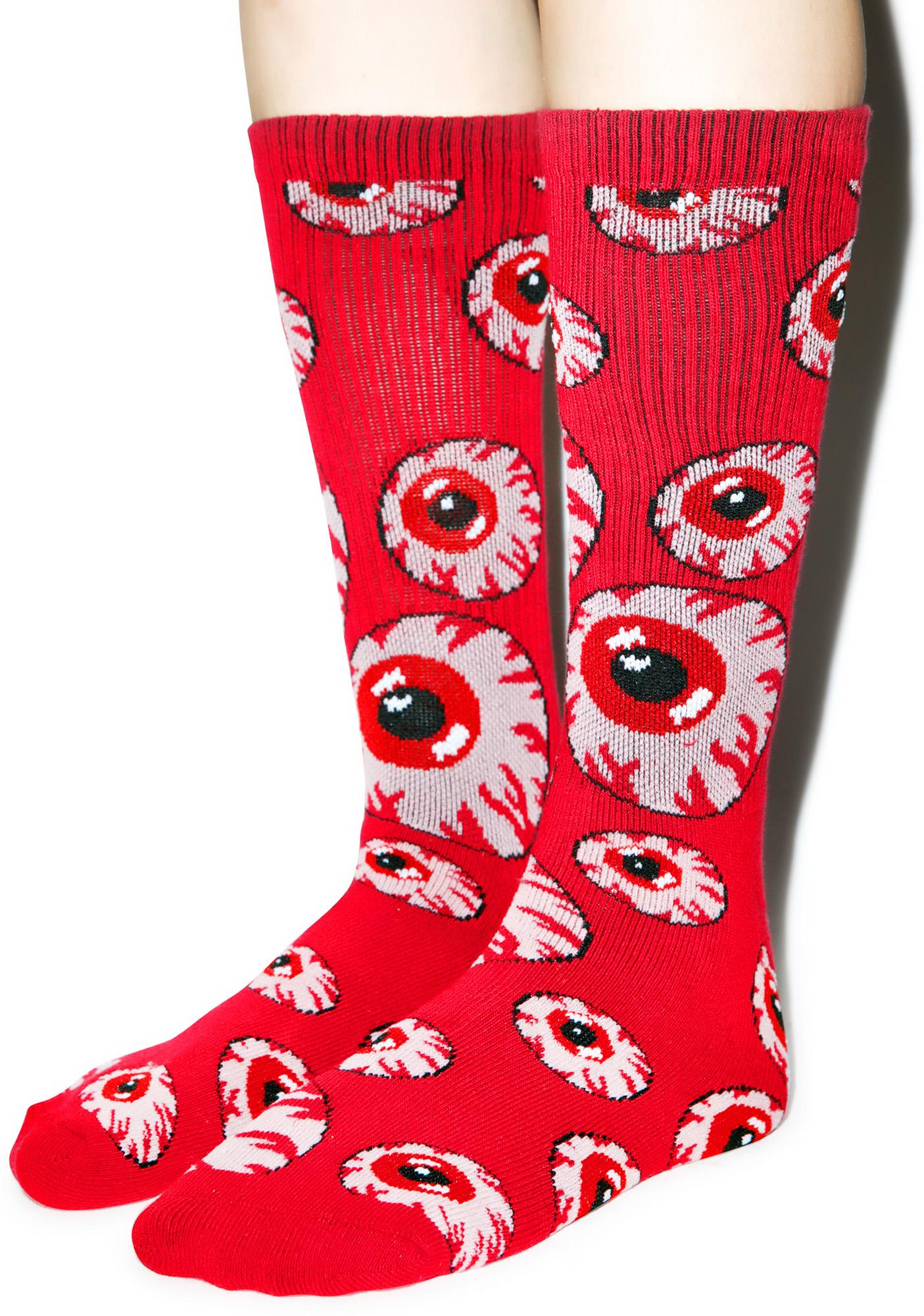 Mishka Tonal Keep Watch Pattern Socks