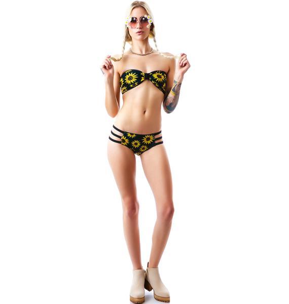 Mandalynn Swim Sunflower Britt Top