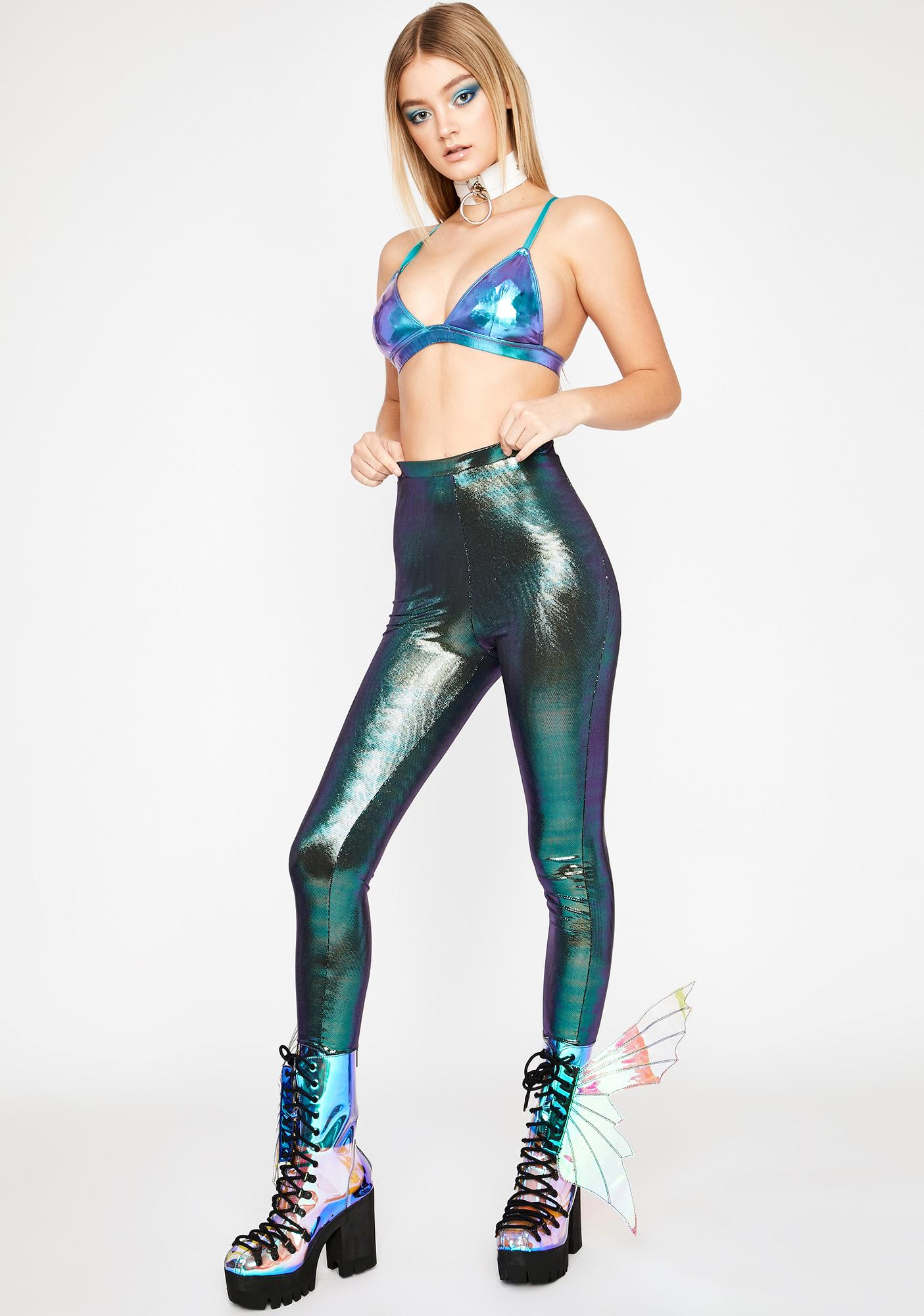Mermaid Disco Dimension Metallic Leggings