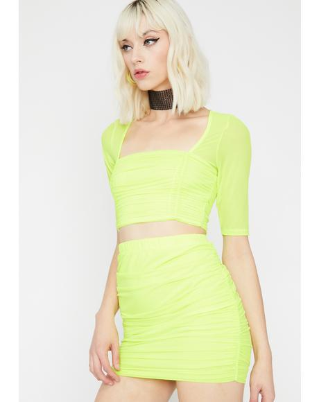 Honey Glow On Sis Skirt Set