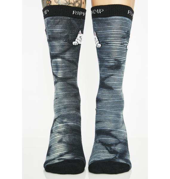 RIPNDIP Onyx Peek A Nermal Socks