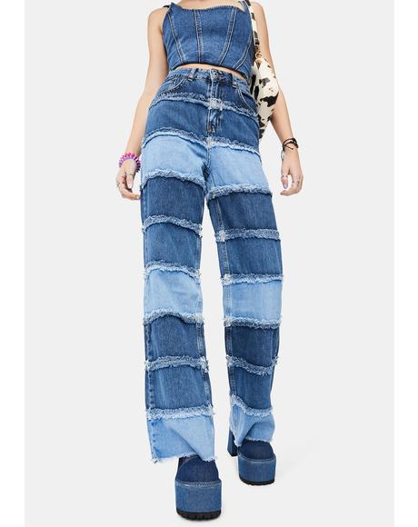 Shredder Wide Leg Jeans
