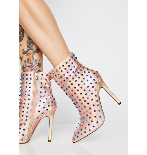 Poison Passion Spiked Booties