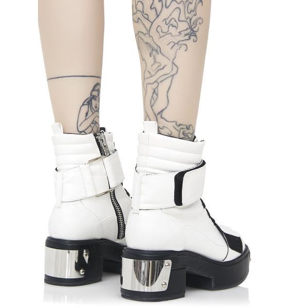 Current Mood Galactic Combat Boots