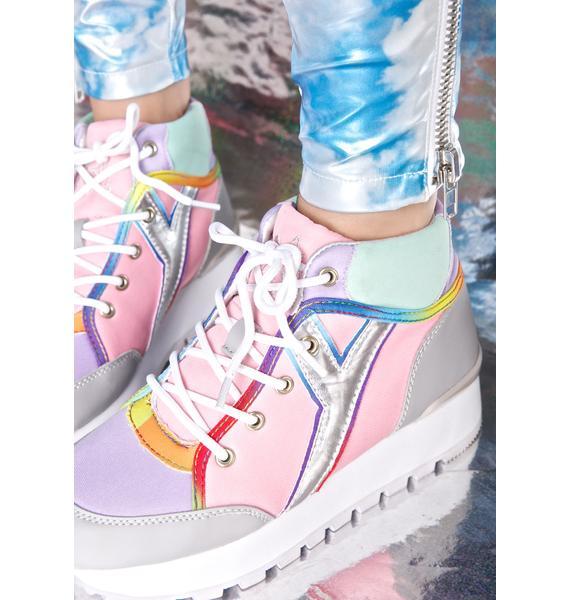 Y.R.U. Tune Pastel Hi-Top Sneakers