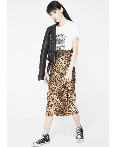 Ferocious Instincts Leopard Skirt