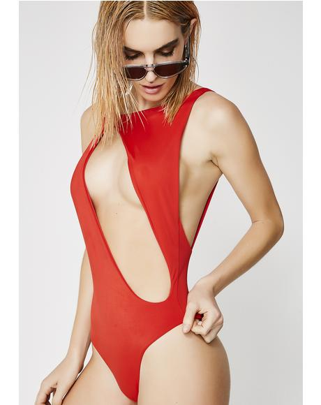 Slash Cut-Out One Piece