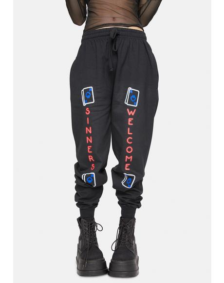 X Nympha Sinners Welcome Sweatpants