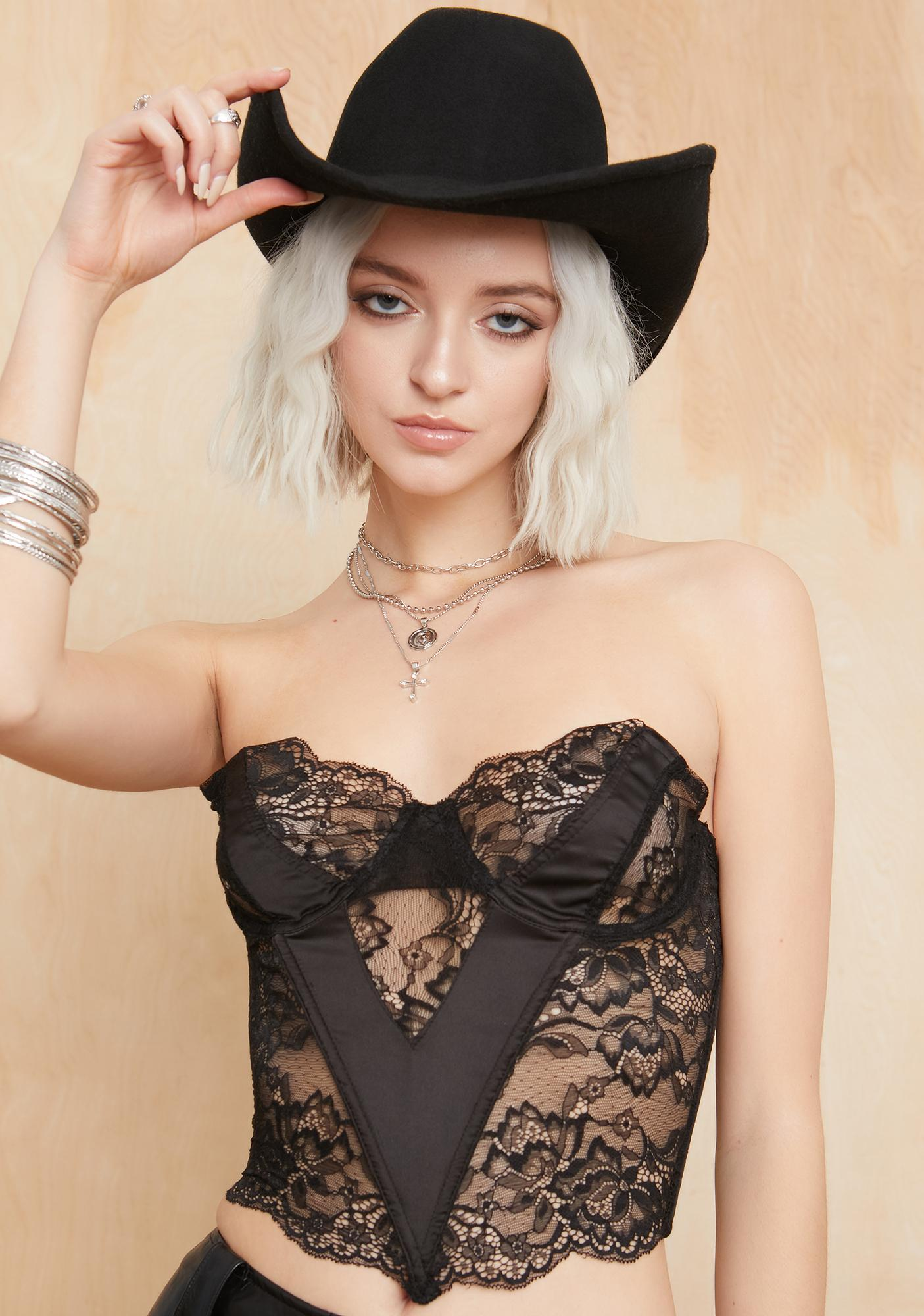 Current Mood Vibe With Me Lace Bustier