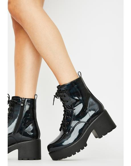 Gin Holographic Platform Boots
