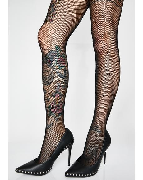 Bangin' Baddie Studded Tights