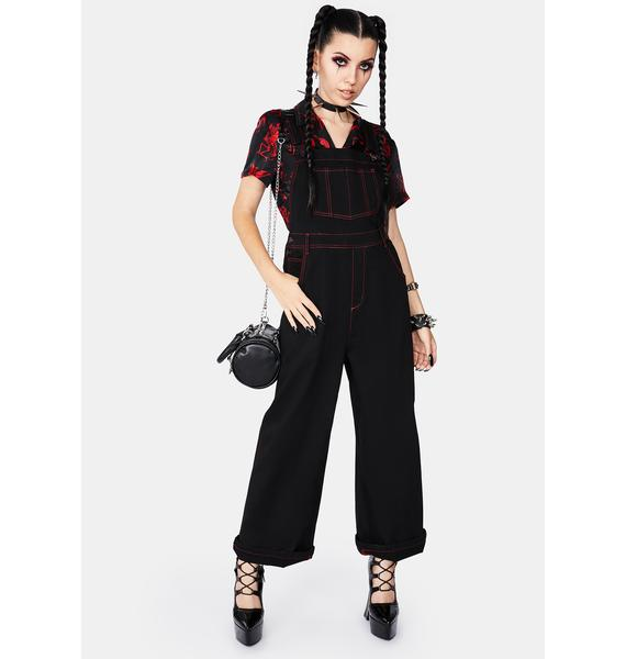 Black Friday Welcome To Hell Wide Leg Overalls