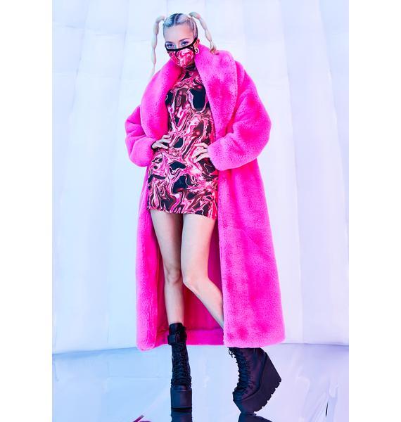 Club Exx Lady Acid Dimension Mesh Dress