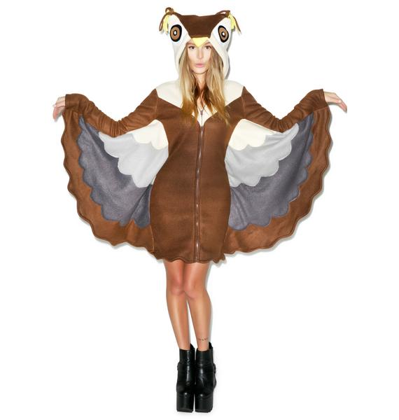 Owl Night Long Hooded Costume