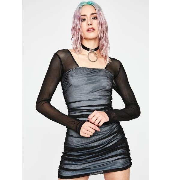 Current Mood Rough Luck Ruched Dress