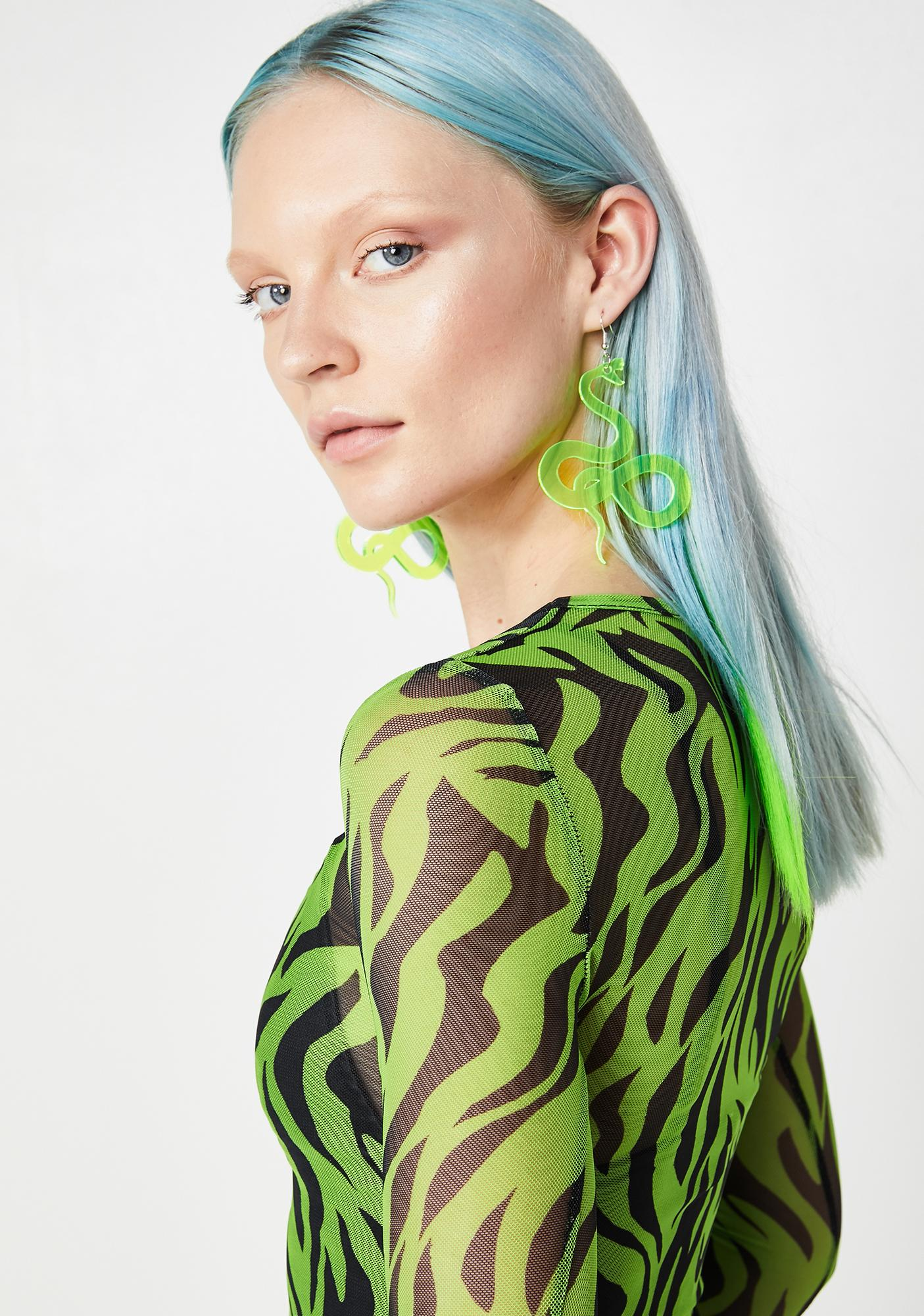 Ivy Berlin Slithering Snake Neon Earrings