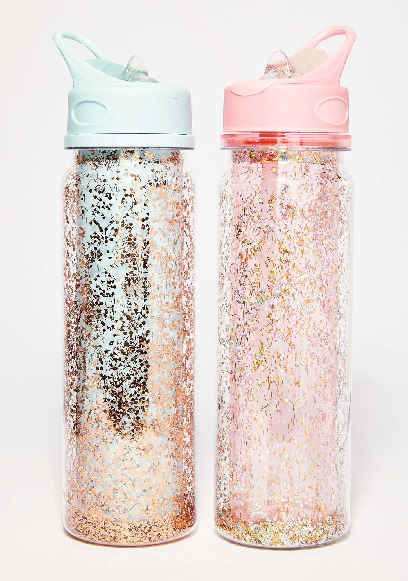 Ice Blue Glitter Bomb Water Bottle