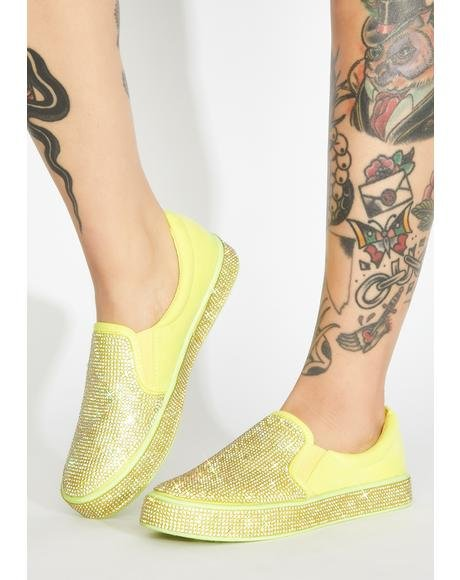 Bizarre Bling Slip On Sneakers
