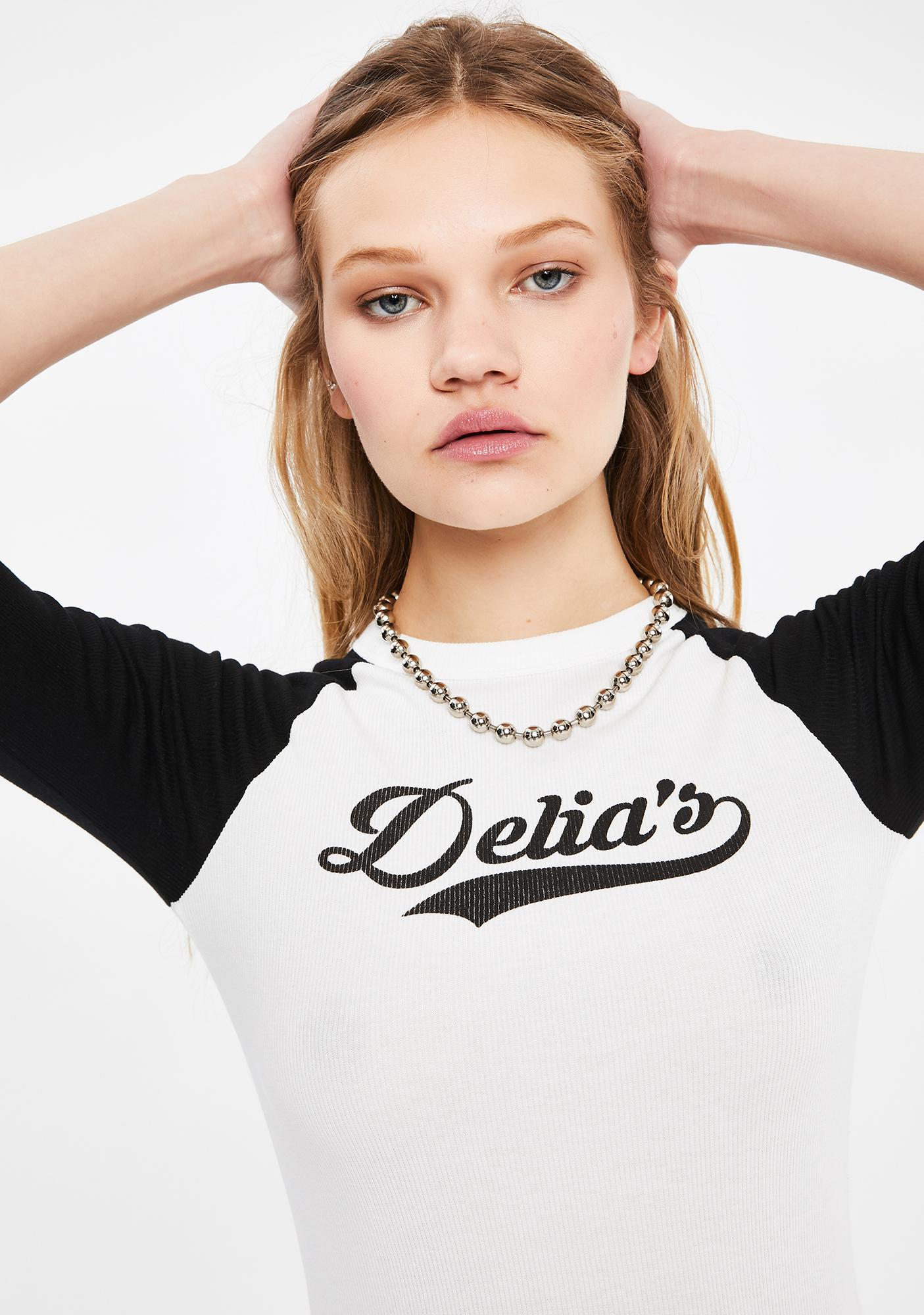dELiA*s by Dolls Kill The Babe Raglan Tee