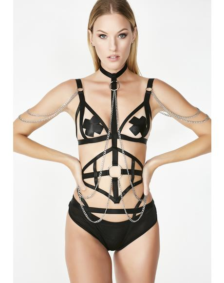 Chained Down Lingerie Set