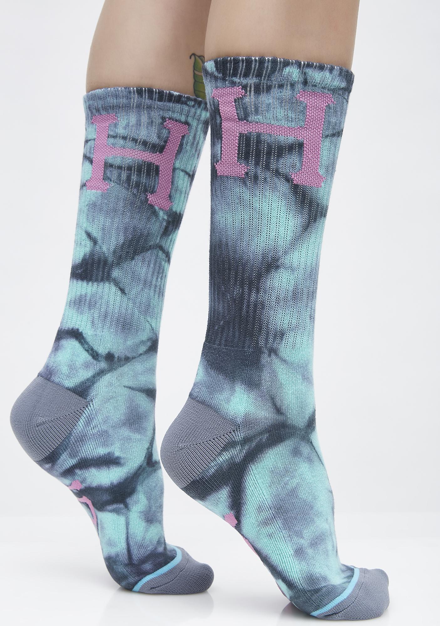 HUF Classic H Crystal Wash Crew Socks