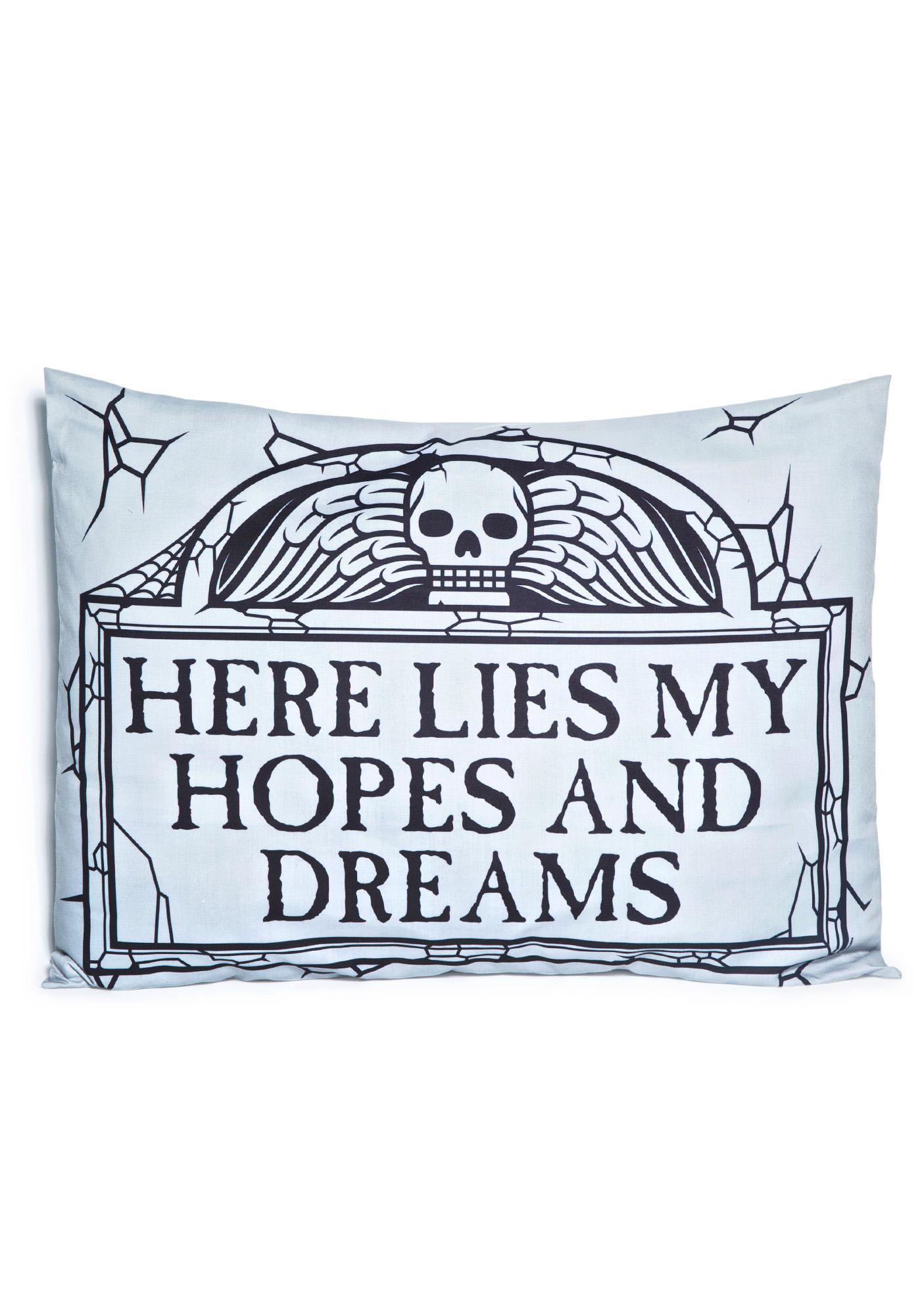 Sourpuss Clothing Here Lies Pillow Case Set