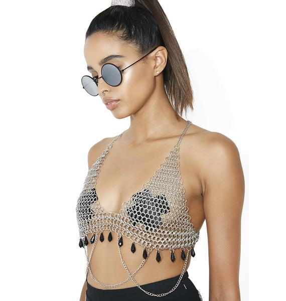 Delinquent Devotee Beaded Chainmail Top