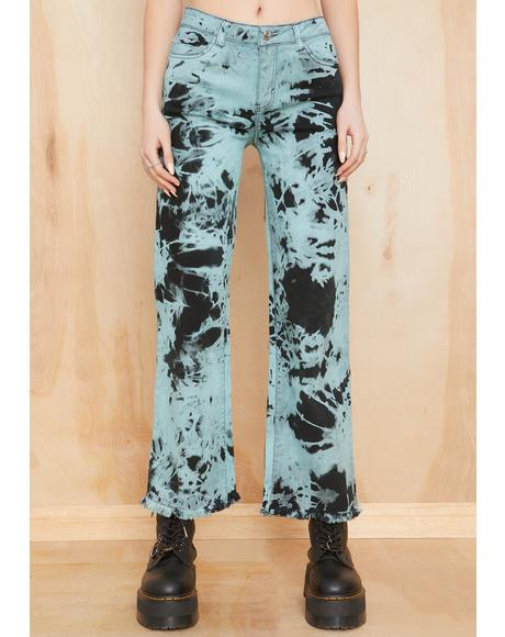 Ride Or Dye Wide Leg Jeans