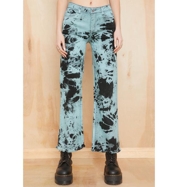 Current Mood Ride Or Dye Wide Leg Jeans