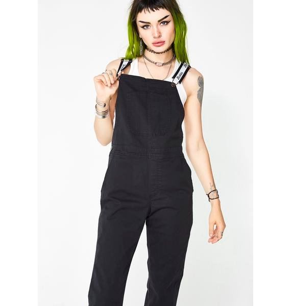 Dickies Girl Logo Strap Overalls