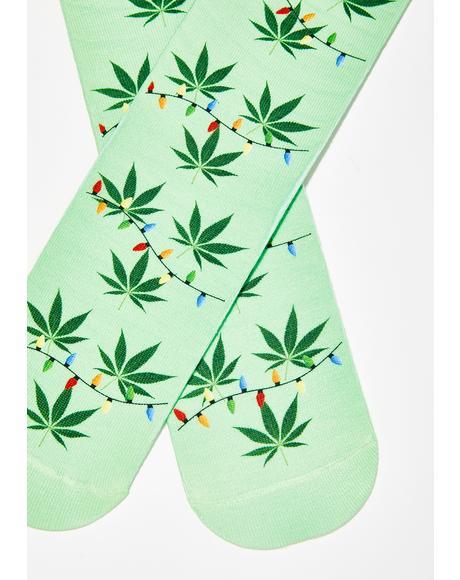Merry Litmas Crew Socks