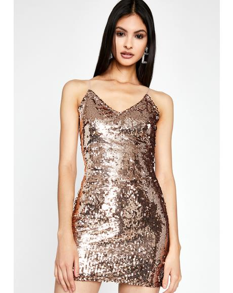 Copper Forever Extra Sequin Dress