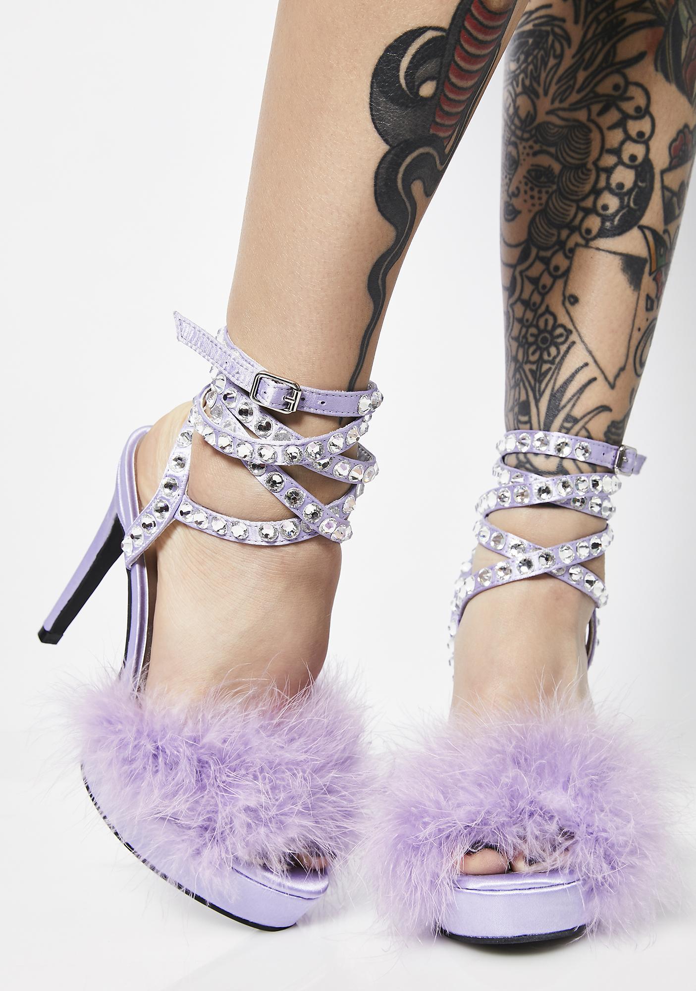 Sugar Thrillz Life Of Luxury Marabou Heels