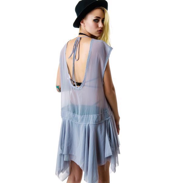 Widow Chiffon Drop Waist Dress