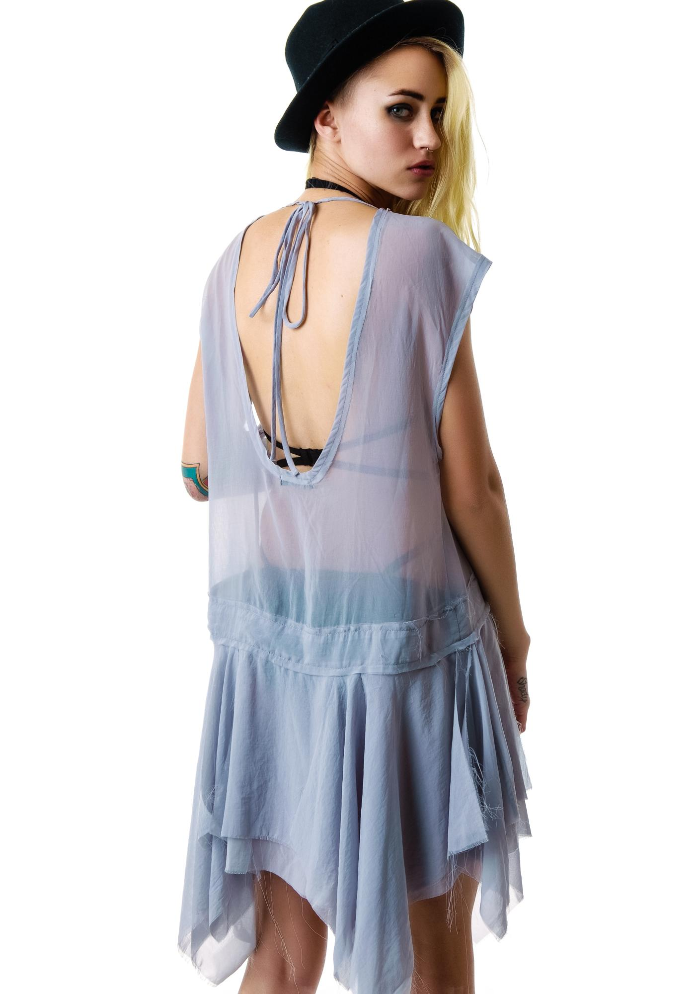 Widow Chiffon Drop Waist Dress