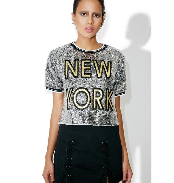 Chrome Empire State Sequin Tee