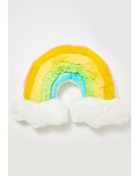 Dreamy Delight Rainbow Pillow
