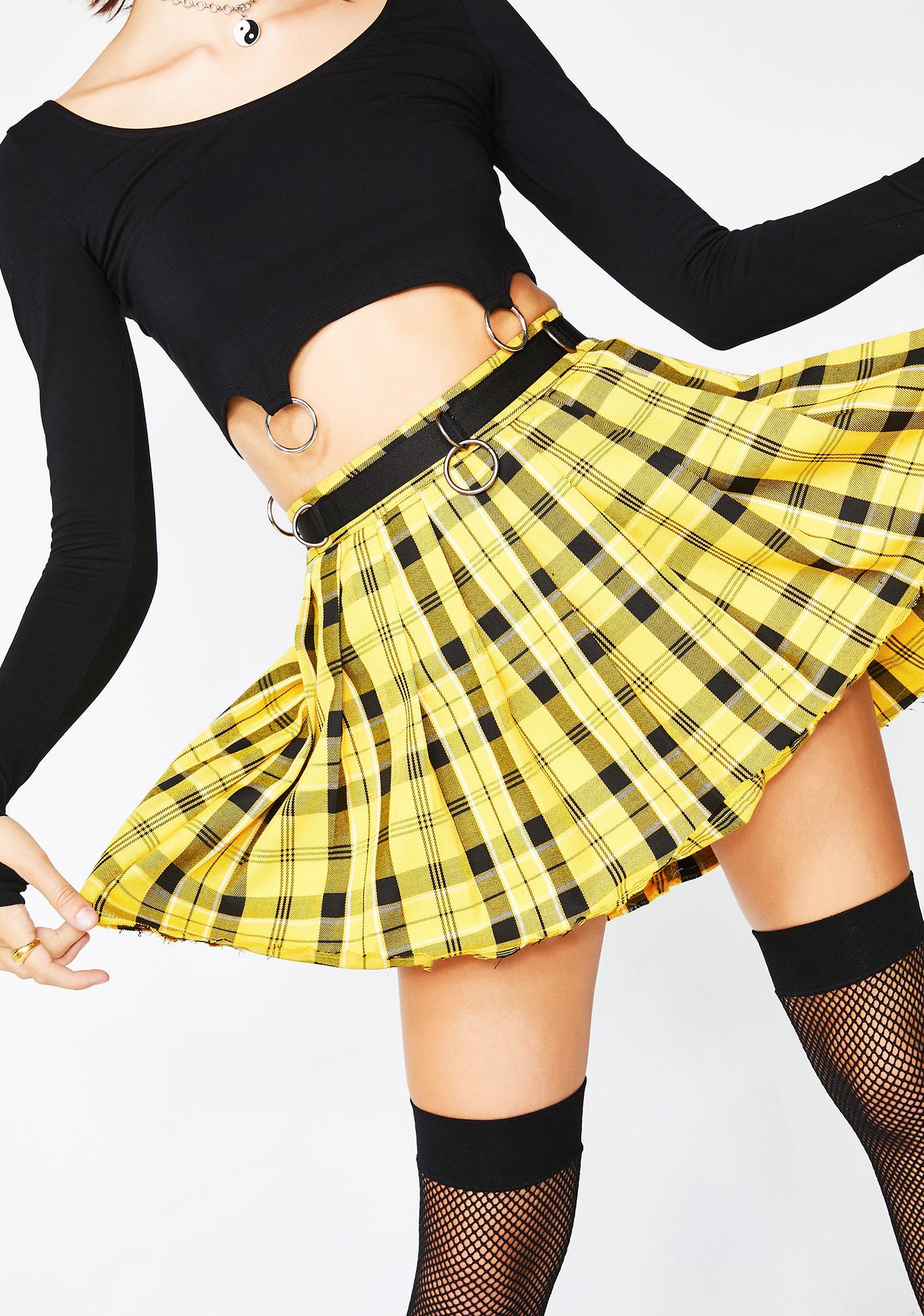 Current Mood Sunny Dress Code Plaid Skirt