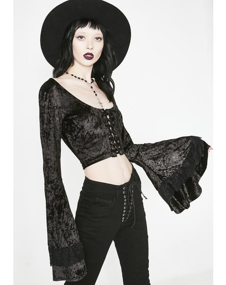 Crazed Mystic Bell Sleeve Top