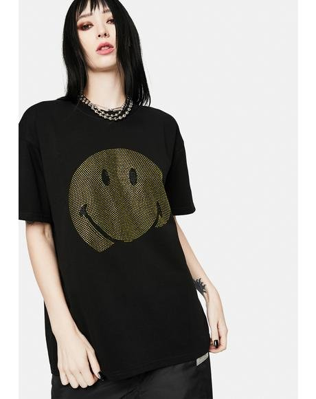 x Smiley Ice Diamante Tee