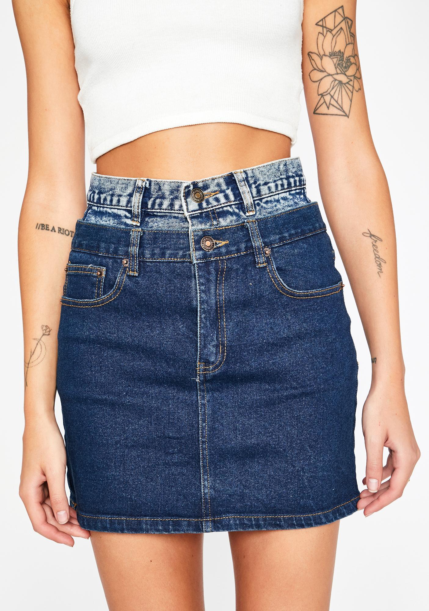 Double Dip Mini Skirt