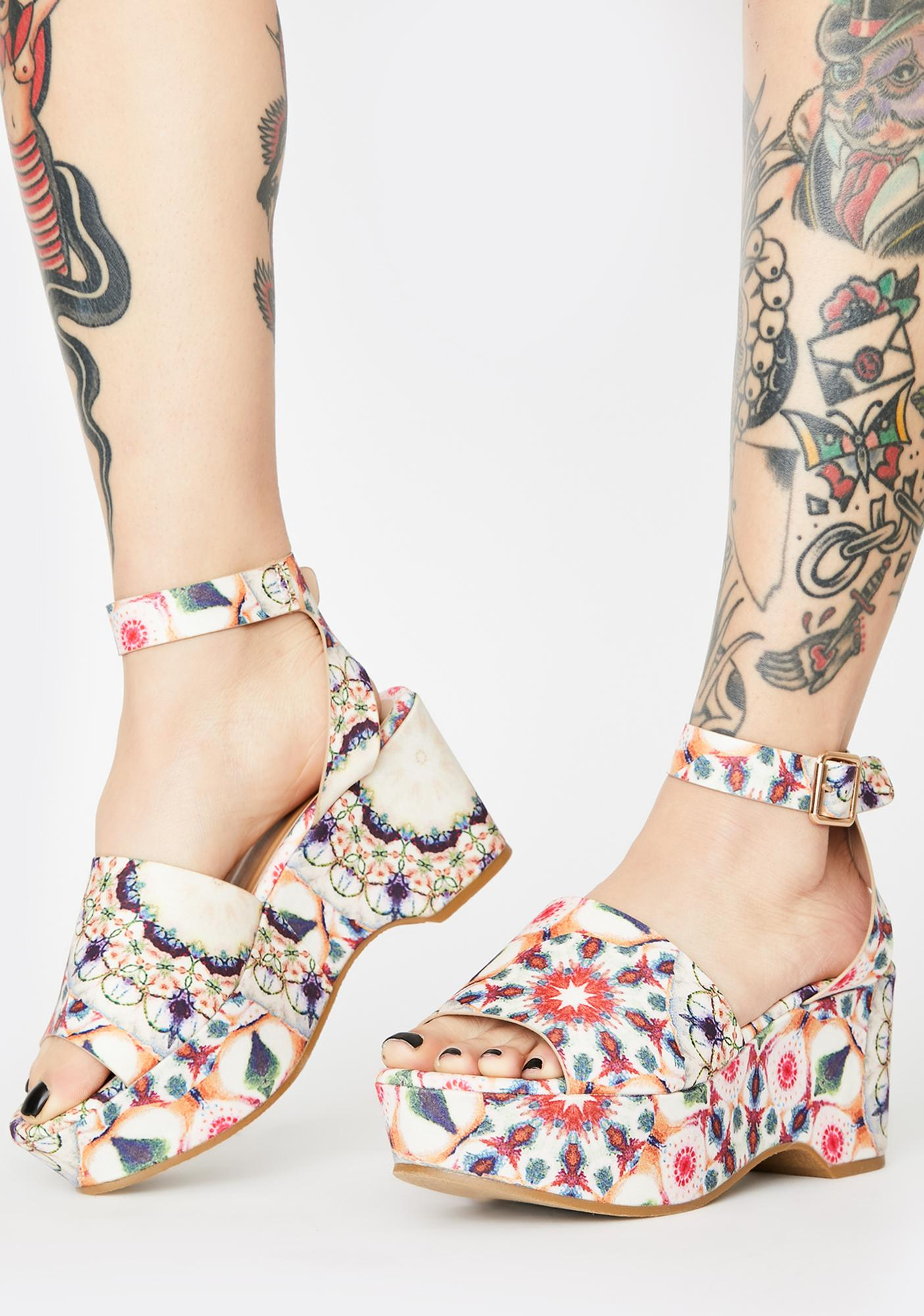 Summertime Picnic For Two Wedge Heels