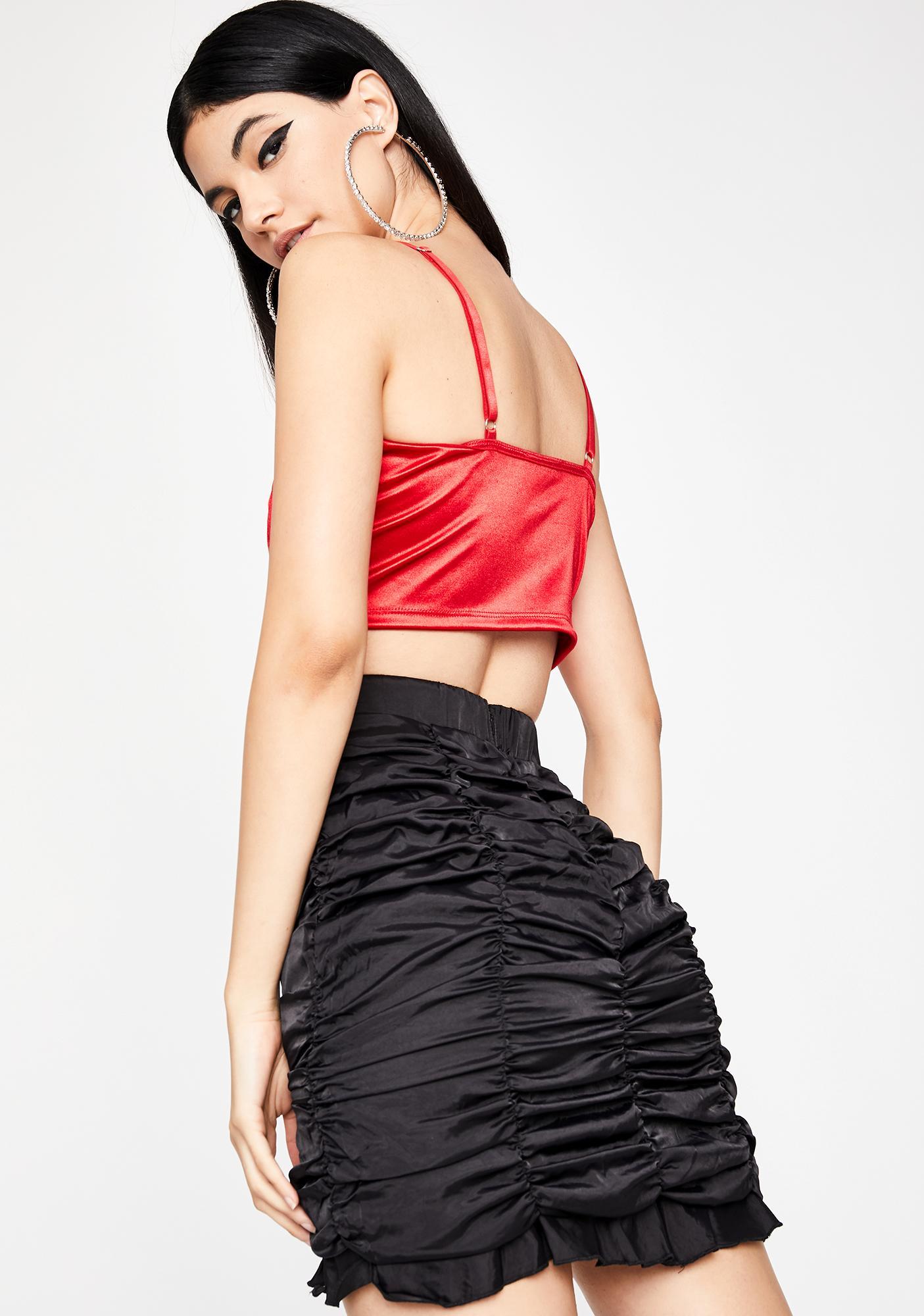 Devious Posh Posse Ruched Skirt