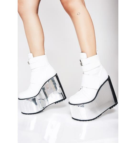 Club Exx Angelic Disco Platform Wedges